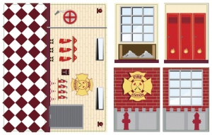 iWallz decoratiestickers Fire Station 6-delig