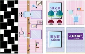iWallz decoratiestickers Hair Saloon 6-delig