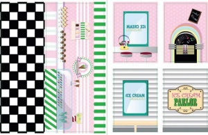 iWallz decoratiestickers Ice Cream 6-delig