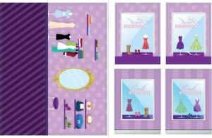 iWallz decoratiestickers Pink Boutique 6-delig
