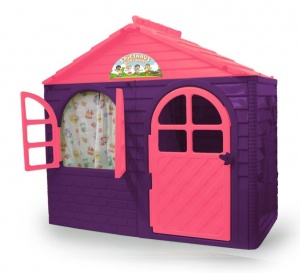 Jamara playhouse Little Home130 x 78 cm violet/rose