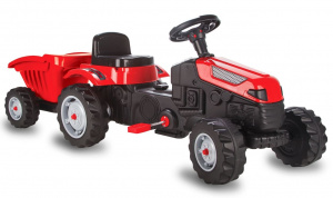 JAMARA pedal tractor Strong Bull with trailer 125 x 51 cm red