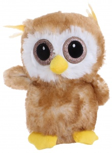 Jemini Planet Pluch cuddly owl 23 cm brown