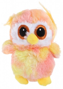 Jemini Planet Pluch cuddly owl 23 cm yellow/pink