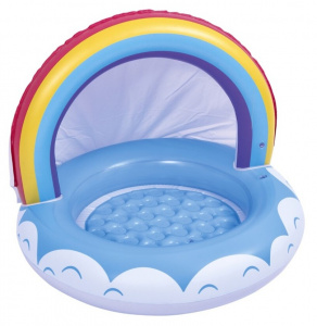 Jilong aufblasbarer Pool rainbow junior 95 x 66 cm Vinylblau