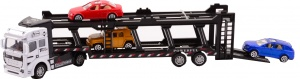 Johntoy Autotransporter Supercars 3 Autos 31,5 cm weiß