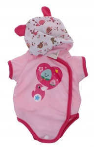Johntoy Baby Rose babypuppe Kleidung Tierprint 40-45 cm