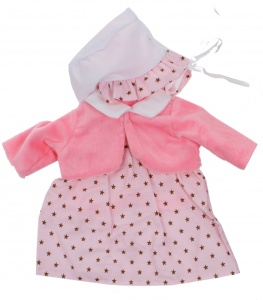 Johntoy Baby Rose babypuppe Kleidung Sterne 40-45 cm