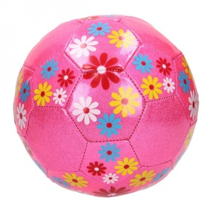 Johntoy flower football girls pink size 5
