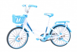 Johntoy poppenfiets kunstof (lengte) blauw