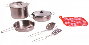 Johntoy Home and Kitchen ustensiles de cuisine en acier set 8 pièces