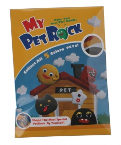 Johntoy make your own Pet Rock 3-piece black