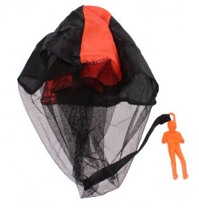 Johntoy parachute jumper 9 cm orange
