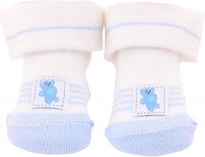 Johntoy doll sock baby blue bear