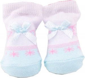 Johntoy doll sock baby blue bow