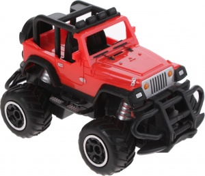 Johntoy RC Jeep met afstandbediening cabrio schaal 1:43 rood