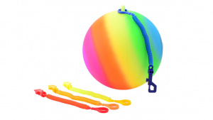 Johntoy Rainbow ball with keycord size 5