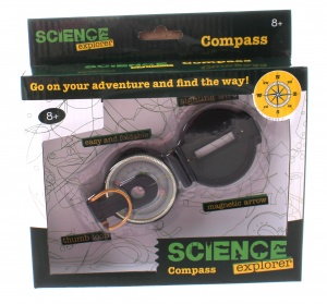 Johntoy Science Explorer compass black 5 cm