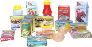 Johntoy supermarket accessory set 18 pieces
