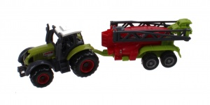Johntoy tractor groen die-cast 3-delig Farm Masters