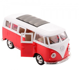 Johntoy Volkswagen Bus T1 1:30 die-cast pull back rouge