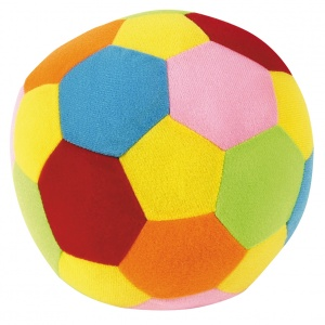 Johntoy soft ball with rattle Happy World 18 cm