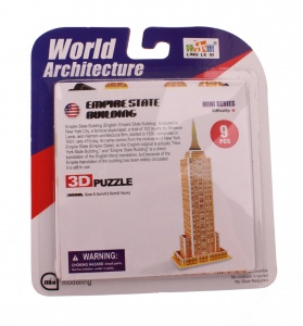 Jonotoys 3D-Puzzle Empire State Building small 6-piece bronze