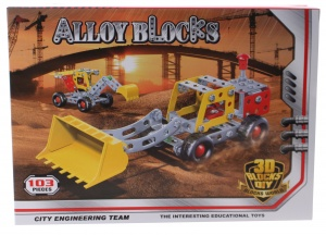 Jonotoys box loader metal silver/yellow/red 103-piece
