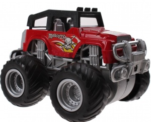 Jonotoys monstertruck Big Foot Drive 8.5 cm rood
