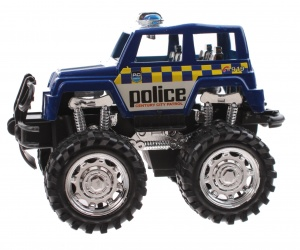 Jonotoys politiemonstertruck The Wind 12 cm blauw/wit