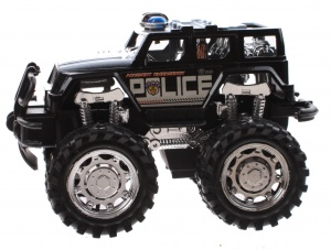 Jonotoys politiemonstertruck The Wind 12 cm zwart/wit