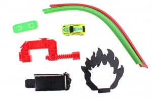 Jonotoys racetrack track racing with car green 80 cm