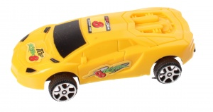 Jonotoys racing car Top Rear boys 8.5 cm yellow