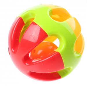 Jonotoys rattle Baby Rattles ball 10 cm red / green / yellow