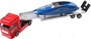 Jonotoys Heavy Duty truck with blue speedboat 29 cm