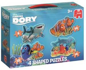 Jumbo Finding Dory Puzzle 4 puzzles 8 to 14 pieces