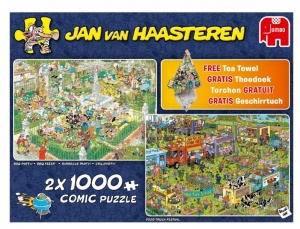 Jumbo Jan van Haasteren Food Festival 2-in-1 1000 stukjes