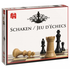 Jumbo Chess game wood 34-piece