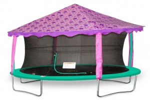 Jumpking trampoline Canopy-tent ovaal 2,13 x 3,05 meter paars