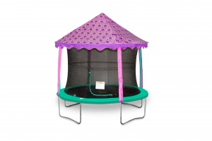 Jumpking canopy-tent trampoline butterflies 3,05 meter purple