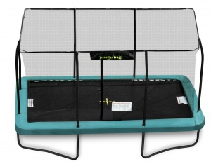 Jumpking trampoline with net and ladder rectangular 426 x 305 cm green (2016)