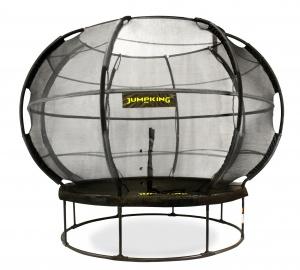 Jumpking trampoline with net and ladder ZorbPOD 366 cm black