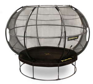 Jumpking trampoline with net and ladder ZorbPOD427 cm black