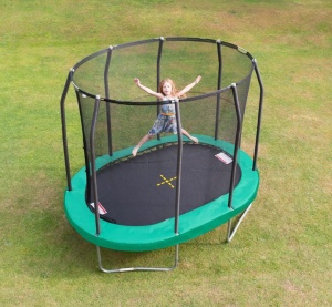 Jumpking trampolin oval 2,13 x 3,04 Meter grün