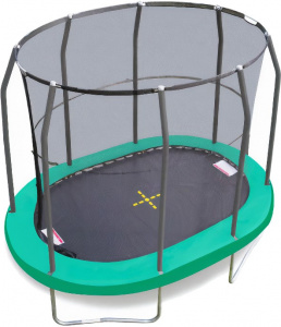 Jumpking trampoline oval 2,13 x 3,04 meter green