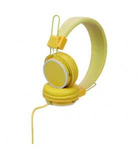 acb6030d802 Kamparo foldable headphones with 3.5 mm jack-plug yellow