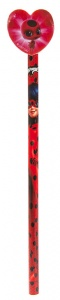 Kamparo Miraculous pencil with eraser red 20 cm