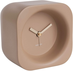 Karlsson alarm clock Chunky 12 x 9,5 cm polyresin light brown