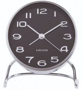Karlsson alarm clock Classical Numbers 9,5 x 11 cm steel black