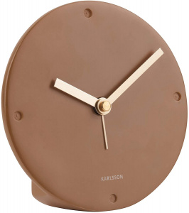 Karlsson alarm clock mantle 12 cm polyresin brown